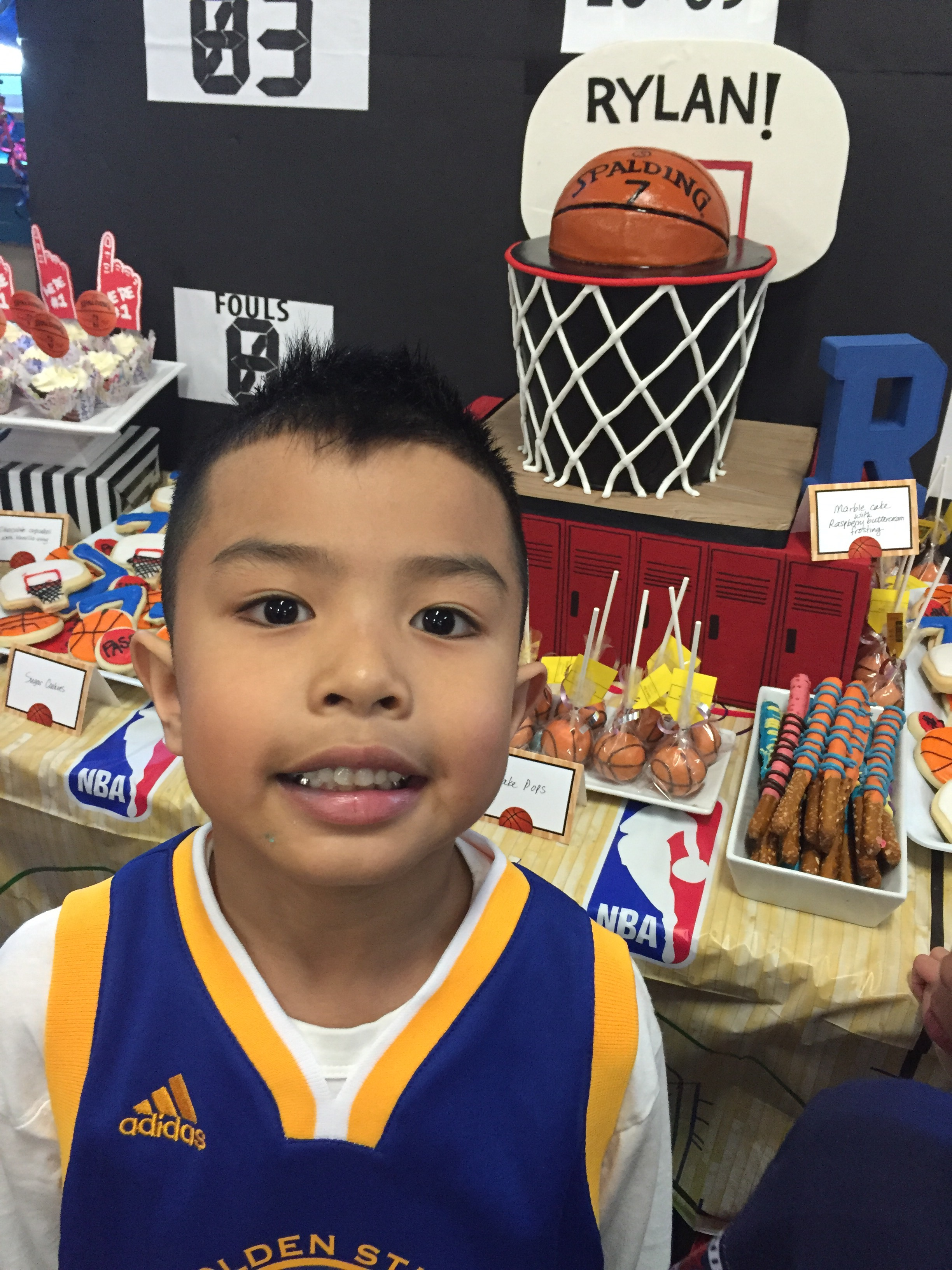 NBABasketball themed 7th Birthday party